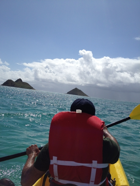 Lehigh University Vicic Lab - Venkata cayaking to the Mokulua Islands