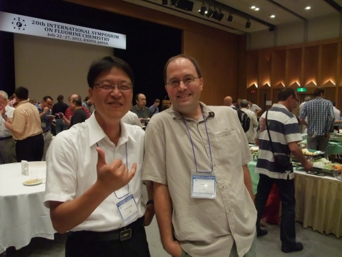 Lehigh University Vicic Lab - DV and Yoshi at Kyoto Flurine Conference